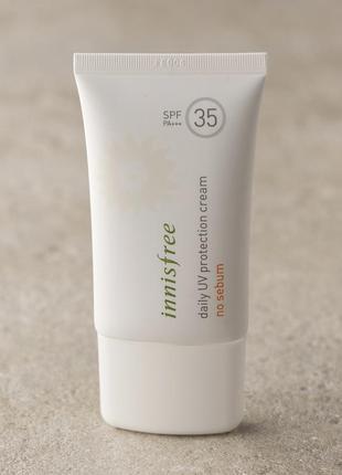 Солнцезащитный крем innisfree daily uv protection cream no seb...