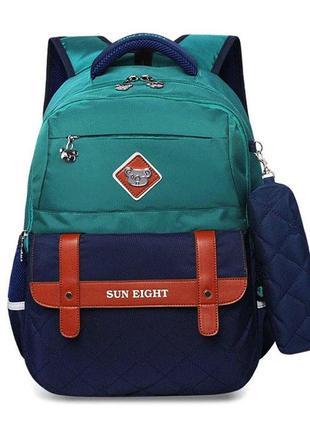 Ортопедический рюкзак с пеналом для мальчика 7-10 лет, детский...