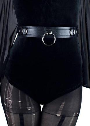 Широкий кожаный пояс с кольцом. брутальный кожаный пояс (размеры)