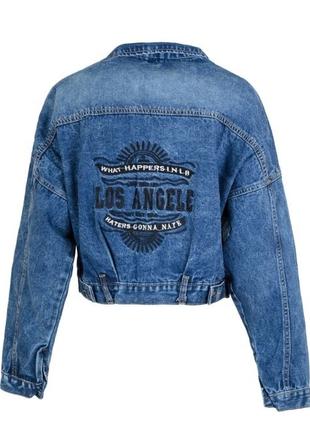 Женская джинсовая куртка momfit