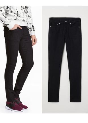 Мужские черные джинсы скини