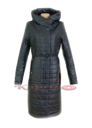 Пальто женское fodarlloy 582 тёмно синее