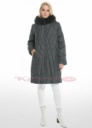 Пальто женское зимнее visdeer 1964 с мехом