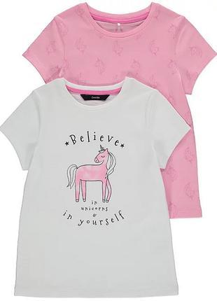 Детская футболка для девочки набор 2 шт george 200408