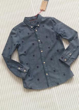 Оксфордская рубашка scotch&soda (нидерланды) на 7-10 лет (разм...