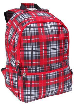 Городской рюкзак в клетку 25L Corvet, BP2013-58 красный