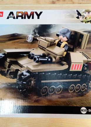 Конструктор Военный танк SLUBAN Army m38-B0709