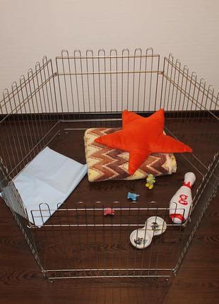 Бесплатная доставка! Манеж клетка для собак с дверкой 120х60х62