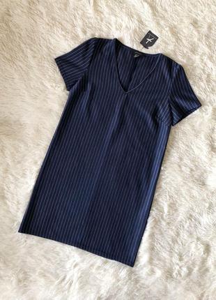 Новое с биркой темно синее платье в полоску atmosphere primark