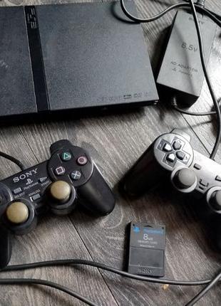 Игровая приставка чипованая Sony Playstation 2