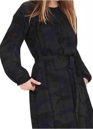 Платье воздушное цвет камуфляж новое размеры 2, 6P (34/S, 38/M)
