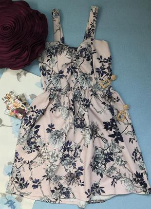 Красивое платье в цветы размер хс/с