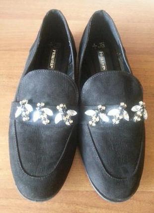 Черные туфли балетки primark