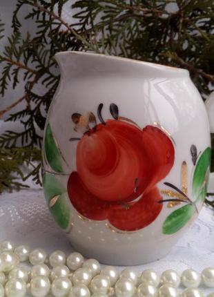 Сливочник молочник барановка фарфоровый с ручной росписью