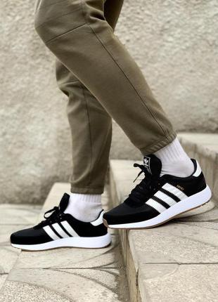 Мужские кроссовки adidas iniki black 😍