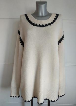 Стильный свитер, джемпер zara свободного кроя оверсайз