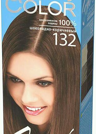 Гель-краска Estel Quality Color (Vital) шоколадно-коричневый 132