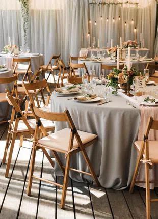 Круглый стол диаметром 180 см. в аренду на свадьбу