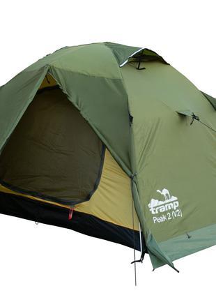 Палатка двухместная Tramp Peak 2 (v2) Green (TRT-025)