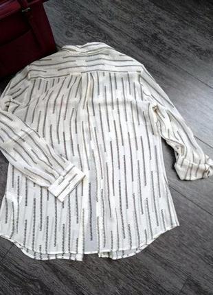 Рубашка блуза прямого немного свободного кроя