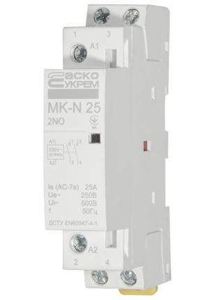 Модульный контактор АСКО-УКРЕМ MK-N 2P 25A 2NO