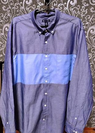 Мужская рубашка с джинсовым отливом