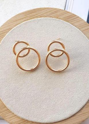 Серьги кольца под золото 1131050
