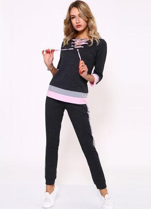 Костюм женский цвет серо-розовый 112r4330