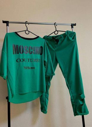 🔥новинка🔥демисезонный костюм брюки + футболка/в расцветках/кач...