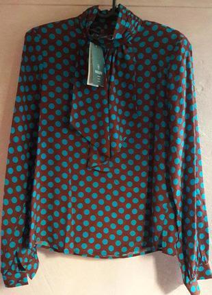 Sale экстравагантная, блуза в горох