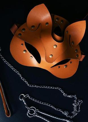 Кожаная маска рыженькой лисички