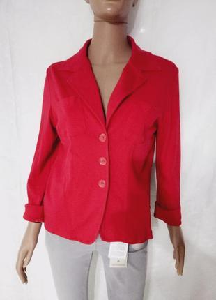 Стильный трикотажный пиджак, жакет,блейзер