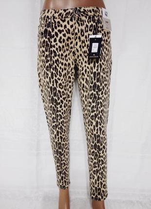 Леопардовые скинни, джинсы тренд сезона