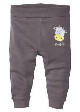 Детские трикотажные штаны джоггеры lupilu германия, биохлопок