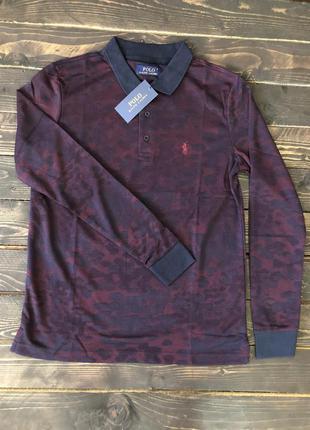 Мужская кофта (лонгслив) polo ralph lauren, цвет красный, разн...