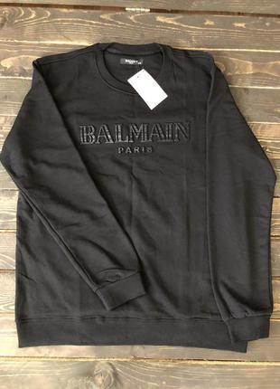 Мужская кофта balmain, цвет черный, разные размеры в наличии