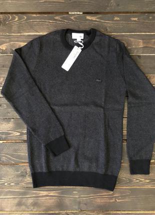 Мужская кофта lacoste, цвет черный, разные размеры в наличии