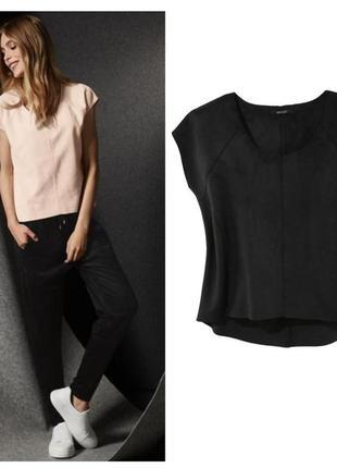 Стильная черная блуза топ футболка под замшу esmara германия