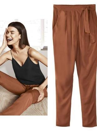 Летние зауженные штаны гаремы алладины брюки гаремки esmara ге...
