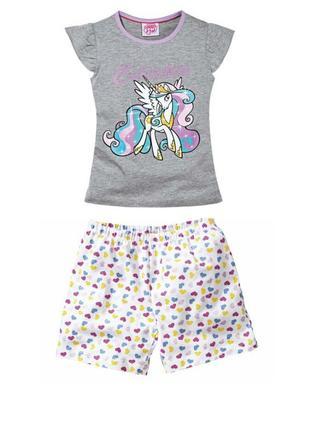 Летний комплект пижама домашний костюм my little pony, lidl ге...