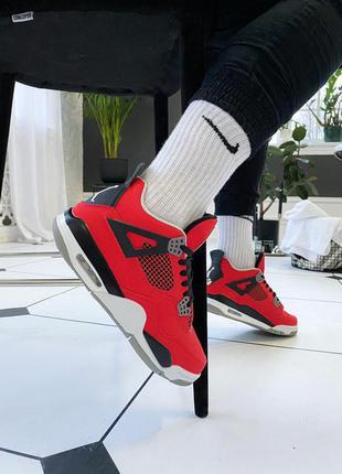 Nike air jordan 4 retro red black white