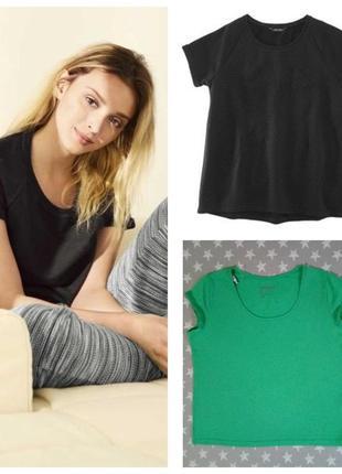Стильная плотная футболка esmara германия, зелёная и черная