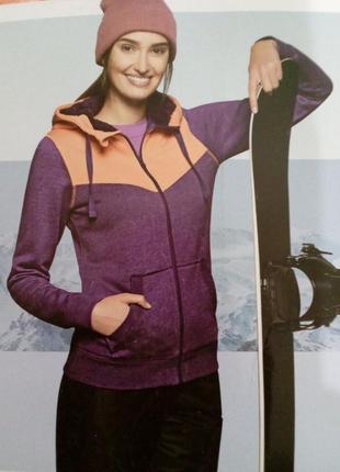 Красивая женская теплая толстовка на меху кофта куртка crivit ...