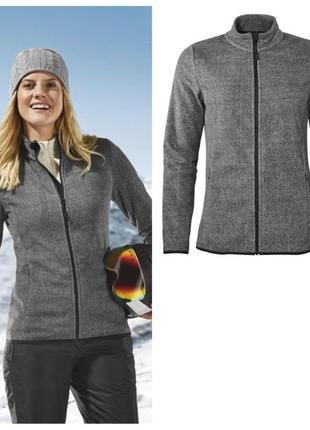 Теплая женская флисовая кофта, куртка толстовка, лыжная и не т...