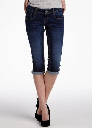 Стрейчевые джинсовые капри бриджи шорты esmara германия