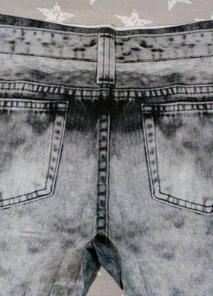Крутые лосины леггинсы под тертые джинсы, размер 42-48
