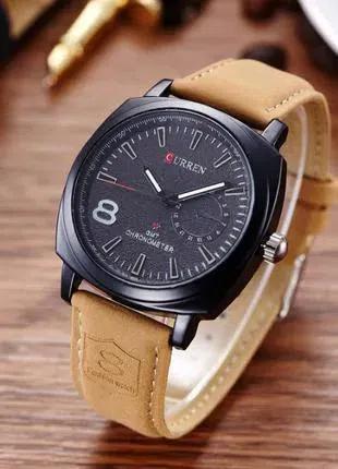 Мужские часы Curren черный циферблат