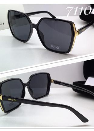 Женские солнцезащитные очки классика квадраты черные