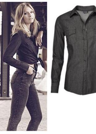 Стильная джинсовая рубашка esmara германия