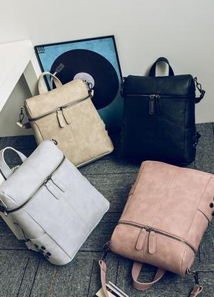 Женский рюкзак сумка 2 в 1 эко- кожа
